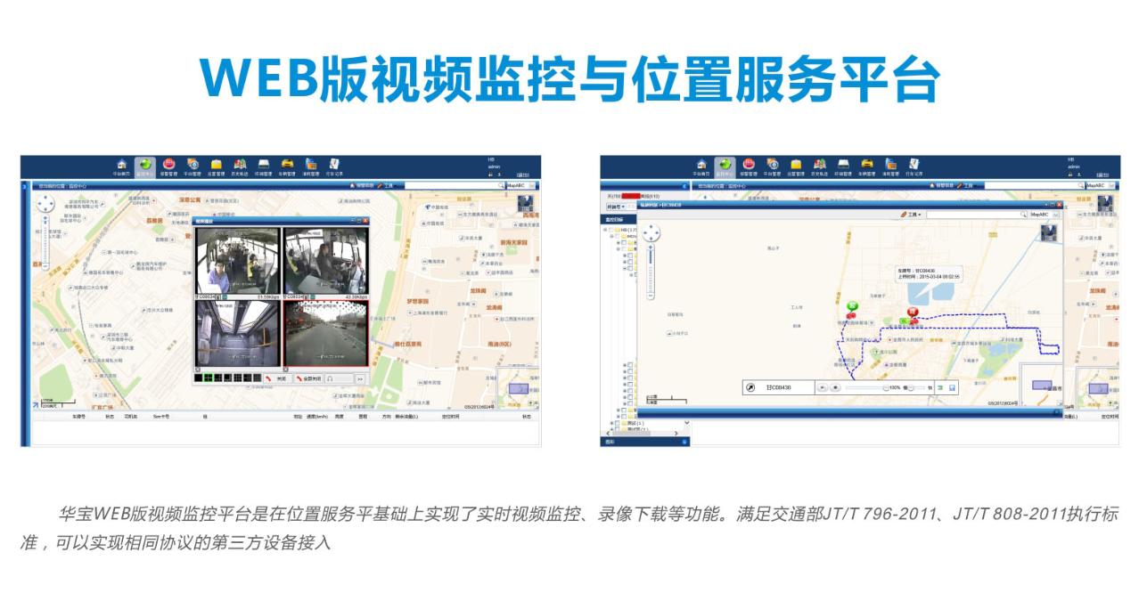 WEB版视频监控与位置服务平台